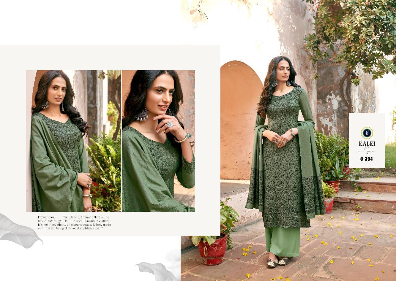 Kalki Fashion Gulmohar Vol 3 Designer Pashmina Handloom Weaving Winter Wear Suits Wholesale