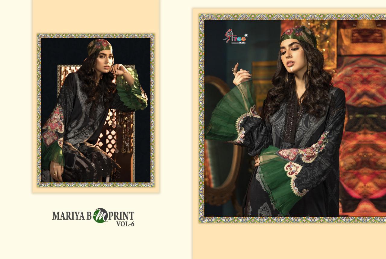 Shree Fab Mariya B M Print Vol 6 Designer Jam Cotton Print With Heavy Embroidery Work Suits Wholesale