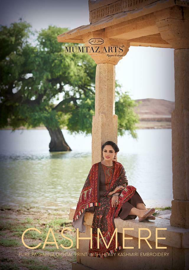 Mumtaz Arts Cashmere Designer Dobby Digital Print With Kashmiri Embroidery Work Suits Wholesale