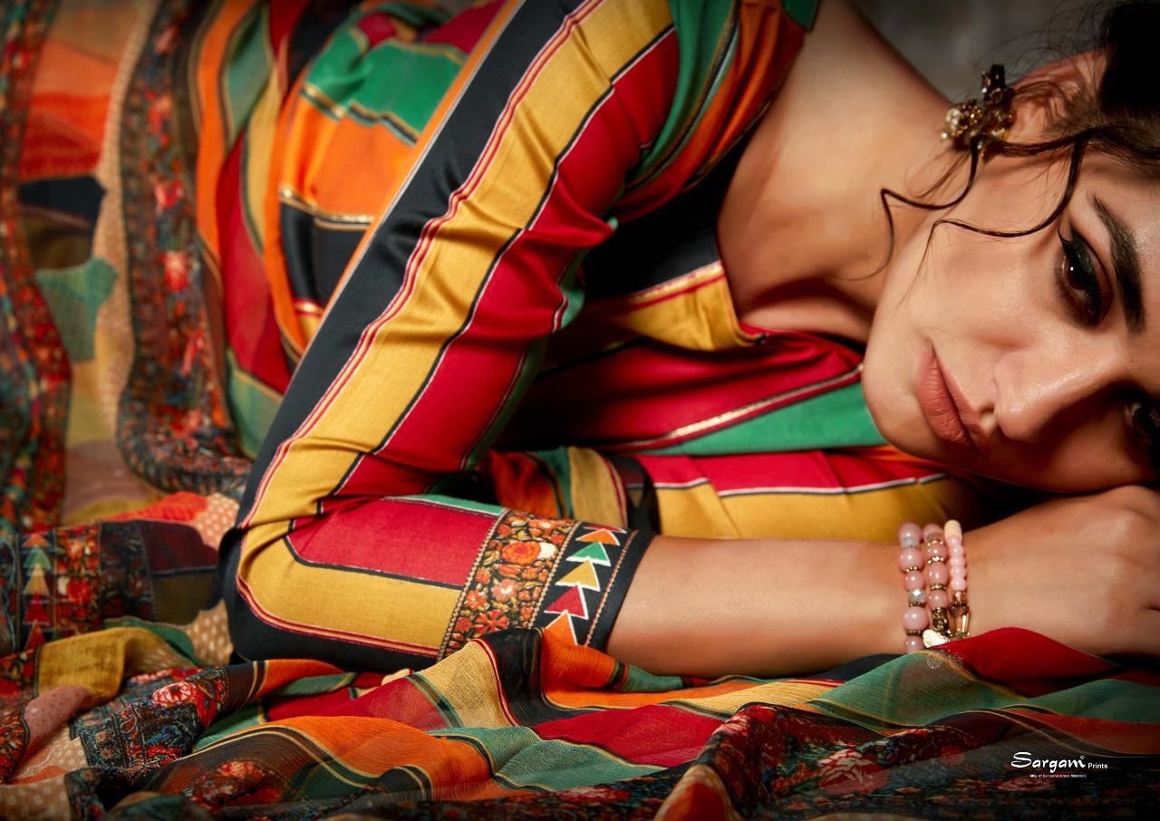 Sargam Prints Jully Designer Pashmina Print With Handwork Suits Wholesale