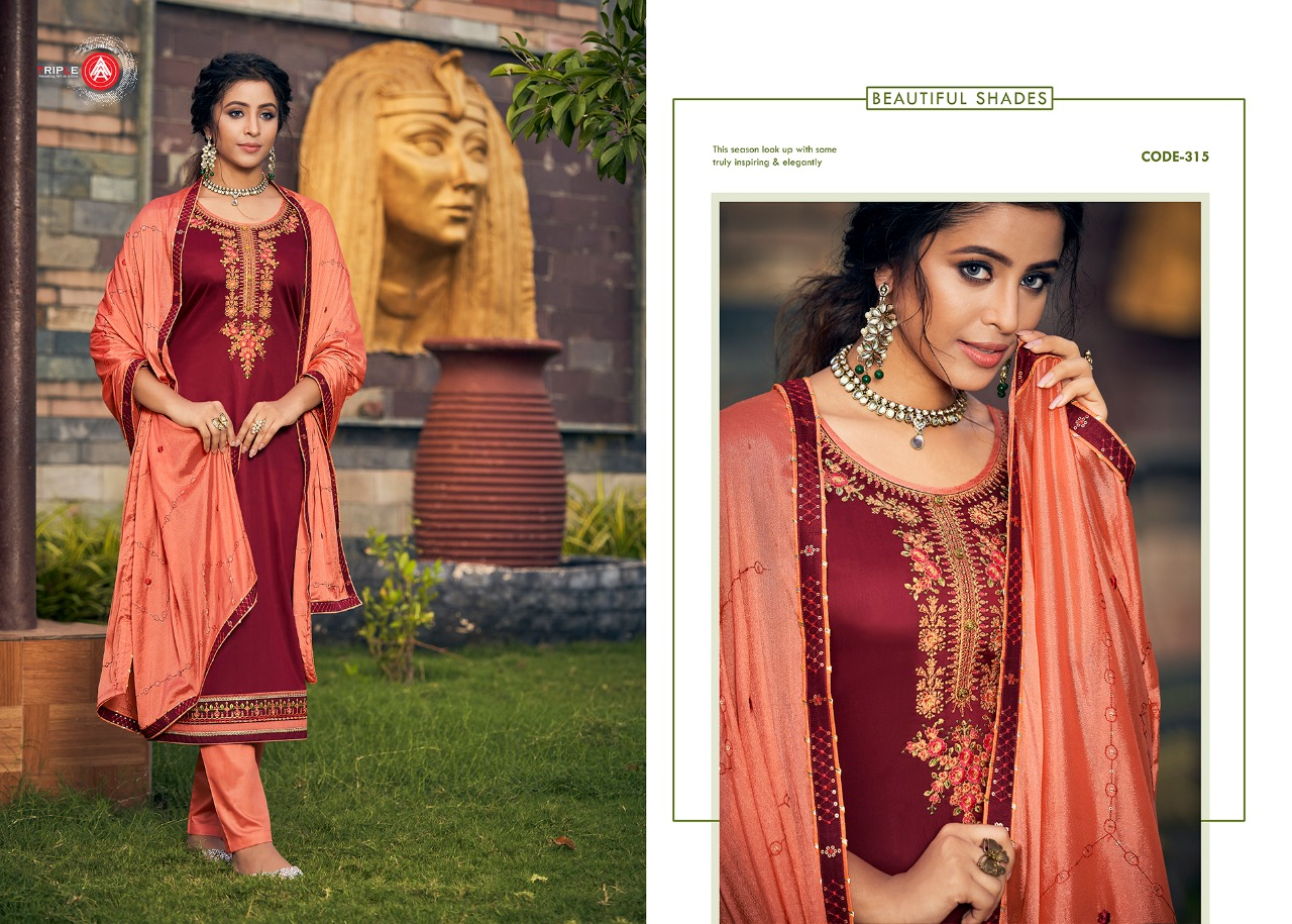 Aaa Khushbhu Vol 2 Designer Jam Silk With Work Suits Wholesale