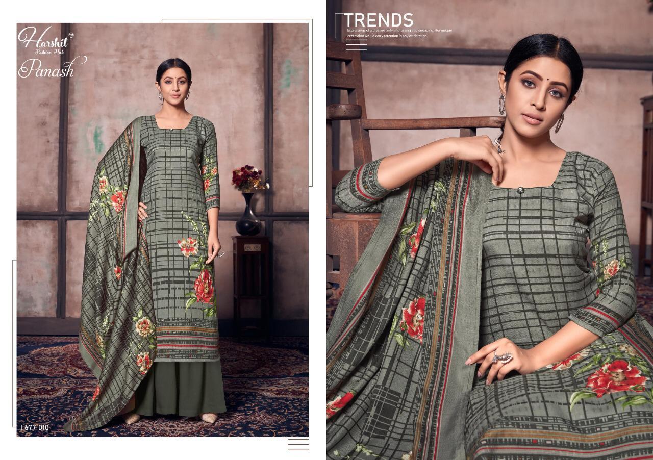 Harshit Fashion Hub Alok Suit Panash Designer Pashmina Digital Printed Suits Wholesale