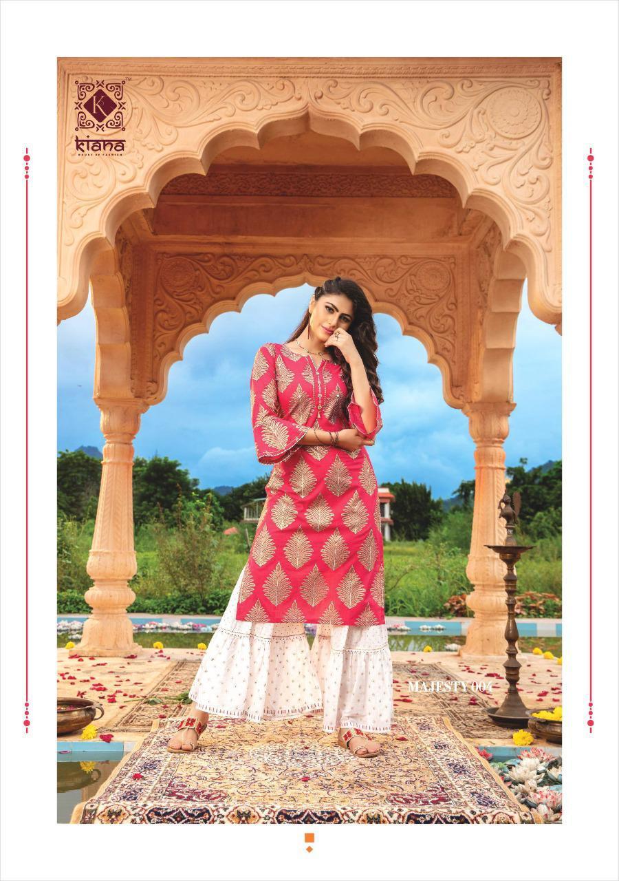 Kiana Majesty Designer Fancy Fabric Occasional Wear Outfits Wholesale