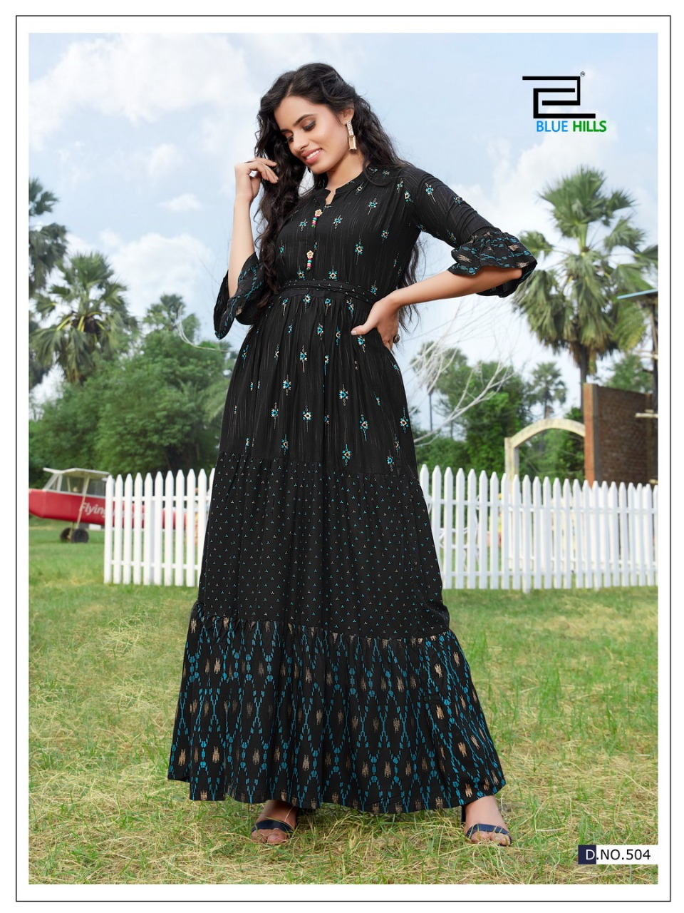 Bornville Vol 5 Nx Blue Hills Designer Party Wear Heavy Long Gown Ready Kurti Wholesale