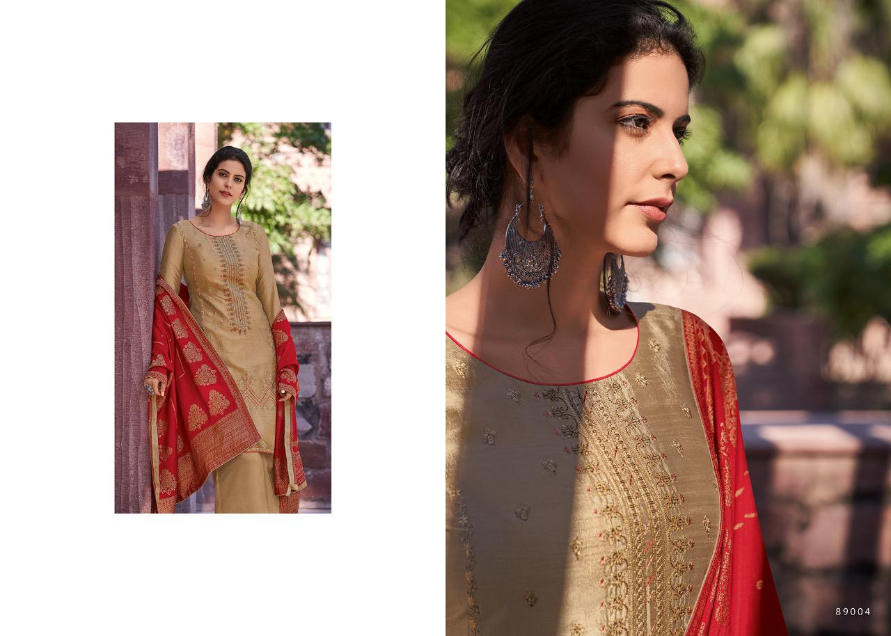 Deepsy Suits Mirai Designer Mulberry Silk Self Embroidery Suits Wholesale