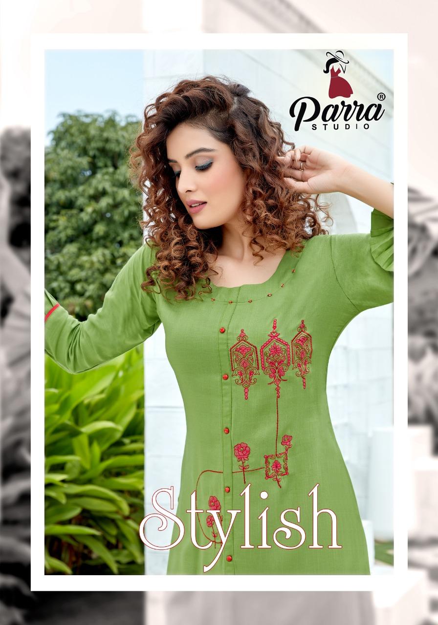 Parra Studio Stylish Vol 1 Designer Party Wear Embroidered Kurti Wholesale