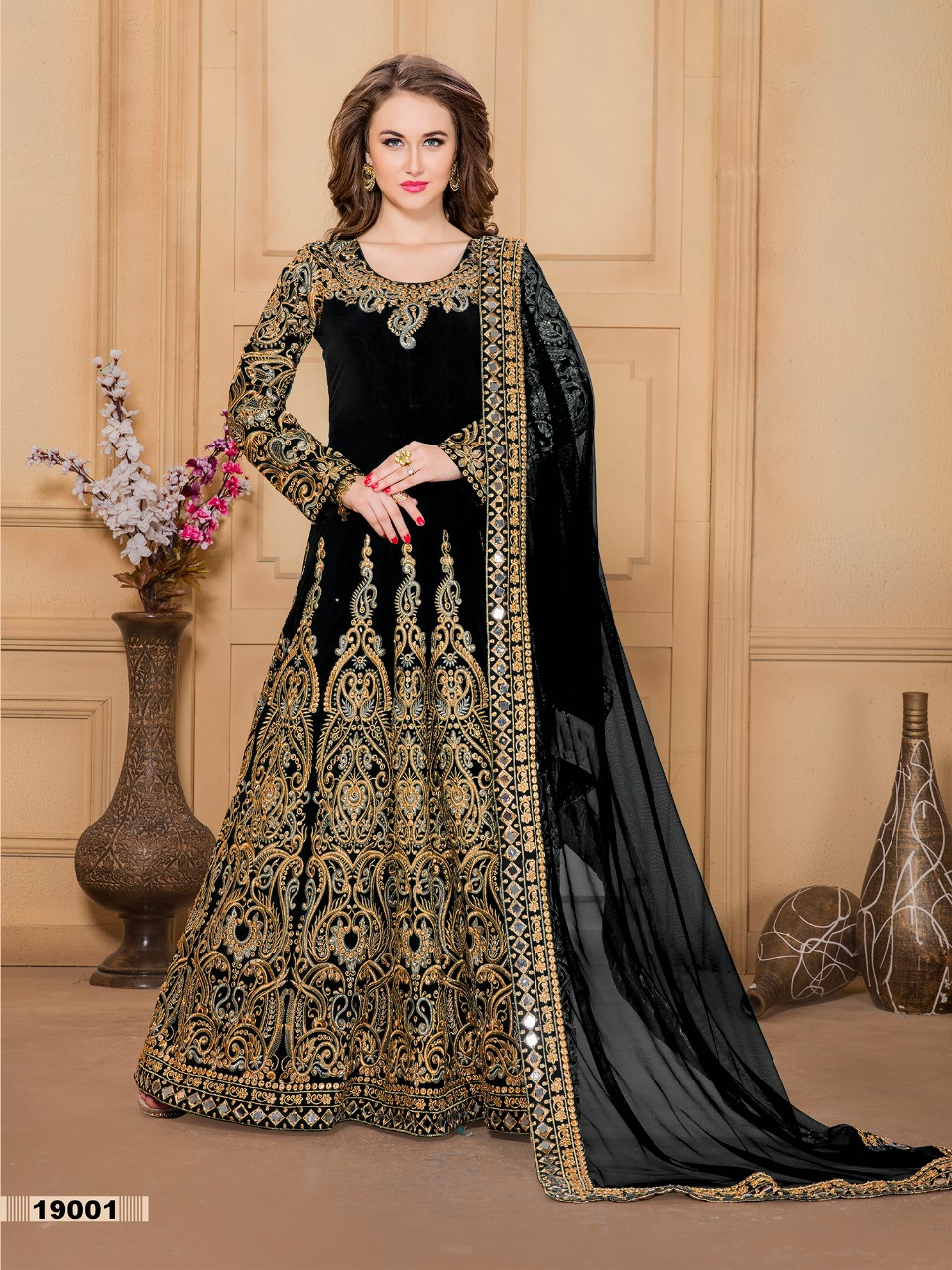 Aanaaya Vol 19 Designer Party Wear Heavy Embroidery Gowns Wholesale
