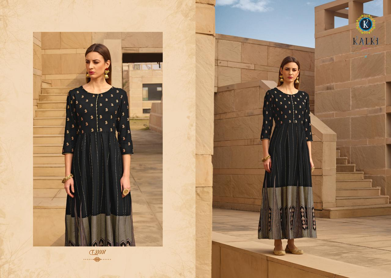 Kalki Fashion Womaniya Vol 2 Designer Gold Foil Printed Gowns Festive Collection In Best Wholesale Rate