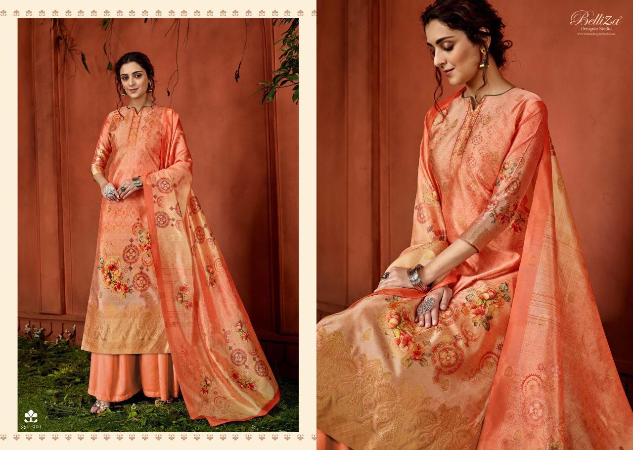 Belliza Naayab Designer Upada Silk Banarasi Jacquard Digital Printed Suits In Best Wholesale Rate