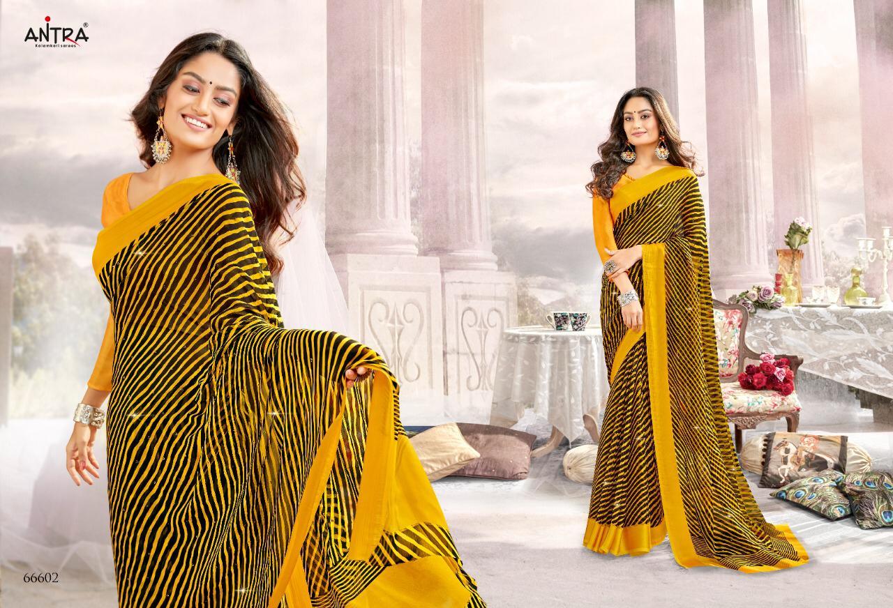 Antra Laheriya Chiffon Designer Chiffon Daily Wear Sarees In Best Wholesale Rate