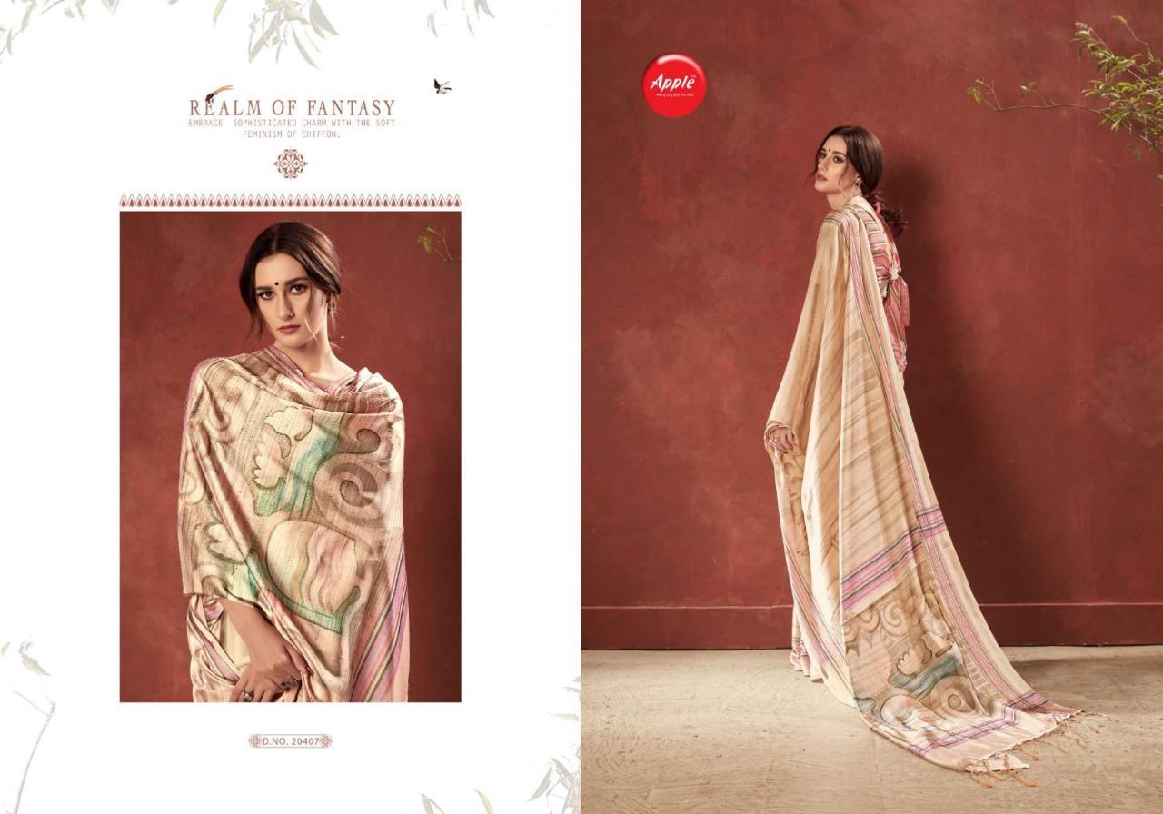 Apple Saree Flowery Vol 3 Designer Premium Crepe Outdoor Wear Sarees In Best Wholesale Rate