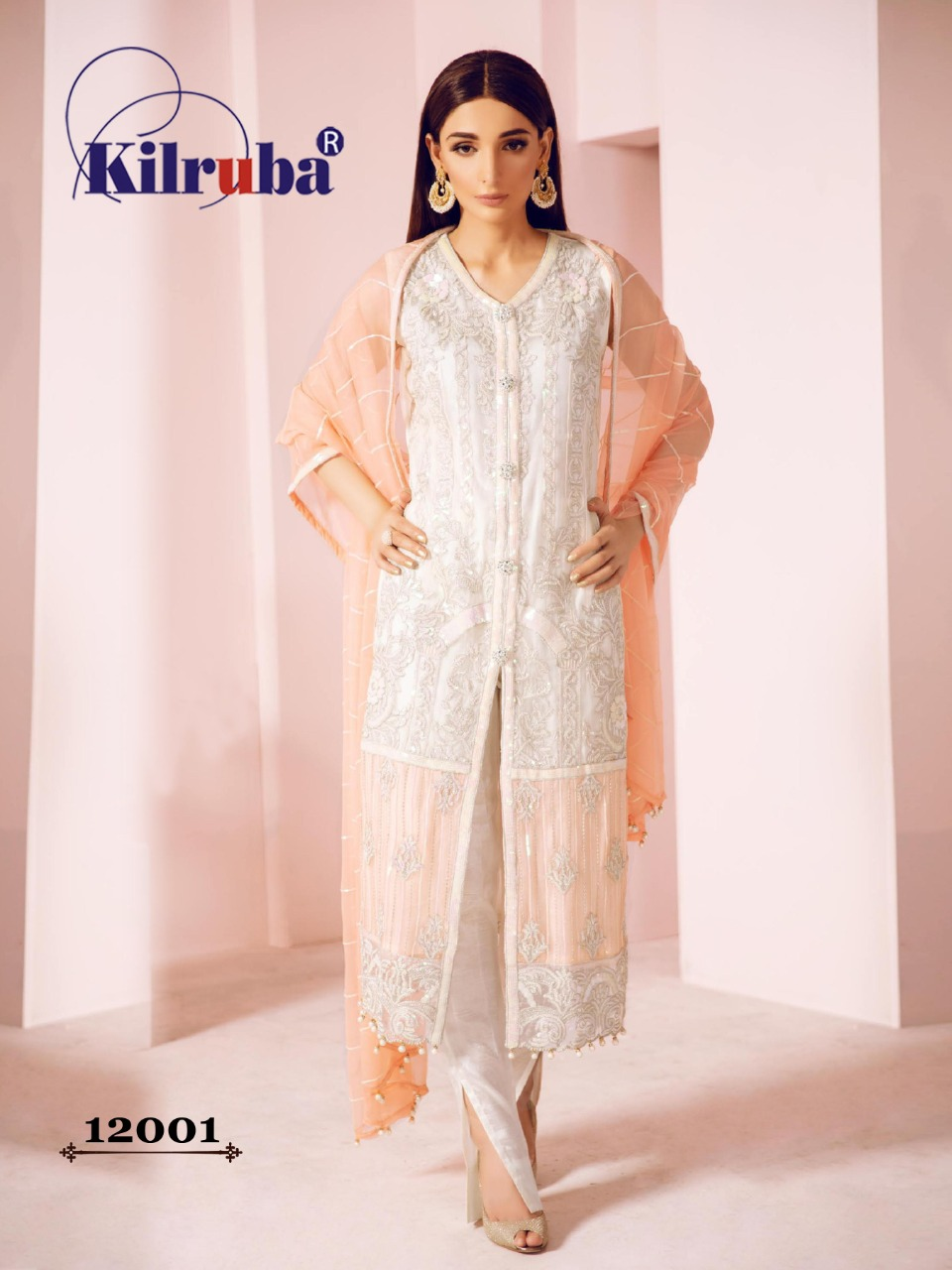 Kilruba Jannat Pakistani Replica Designer Gorgette Butterfly Net Mirror Work And Hand Work Festival And Wedding Wear Suits In Best Wholesale Rate