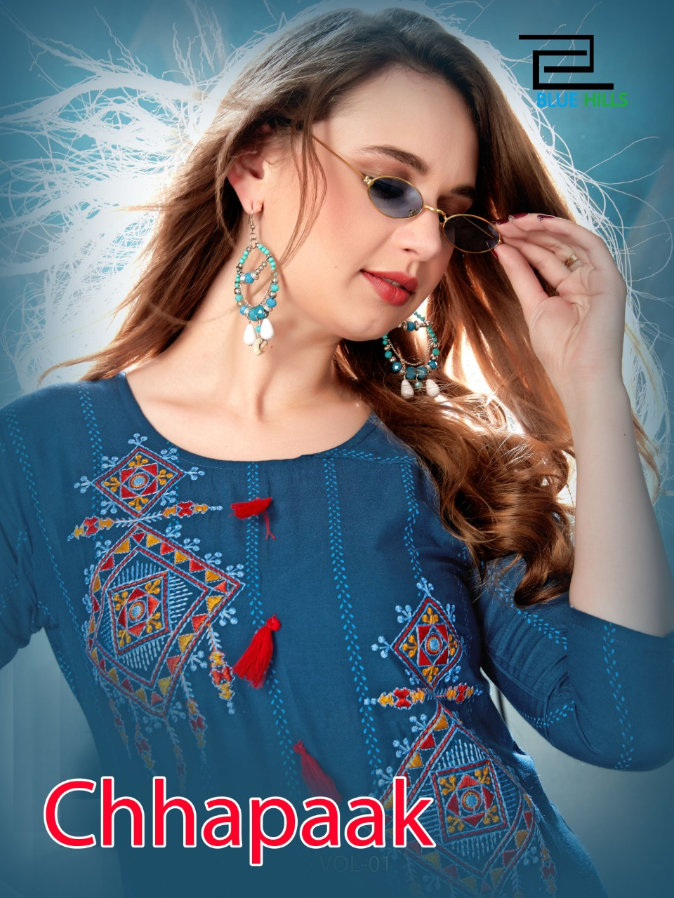 Blue Hills Chhapak Designer Rayon  Print With Handwork Suits In Best Wholesale Rate