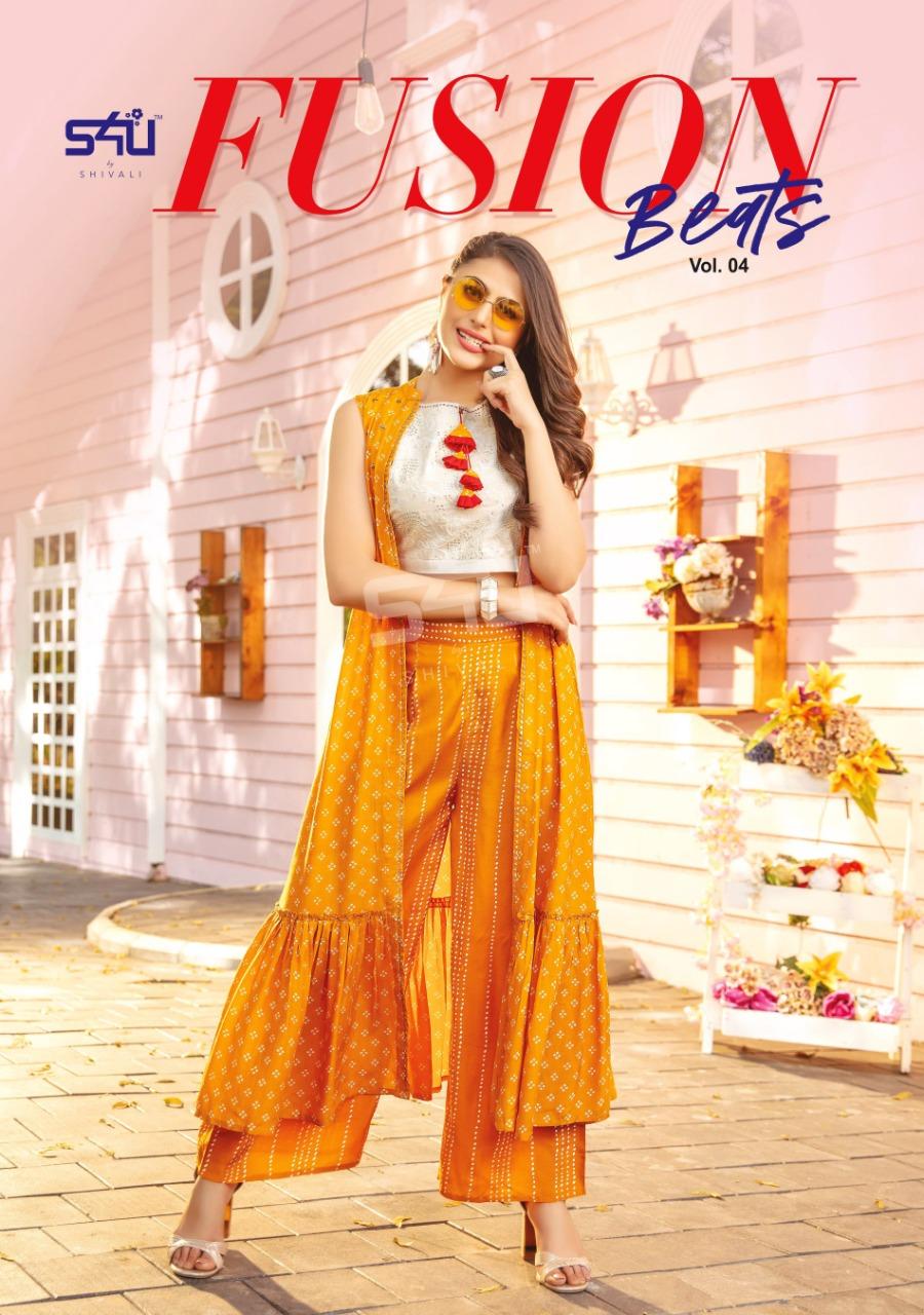 S4u Fusion Beats Vol 4 Rayon Designer Kurties Wholesale