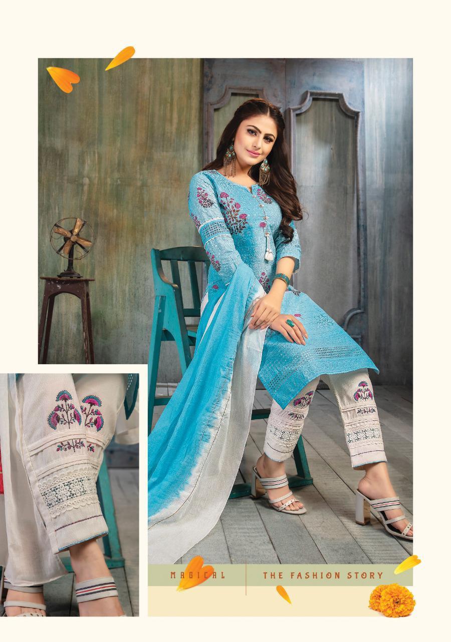 Kiana Sitara Digital Print Stylish Work Designer Embroided Suits Wholesale