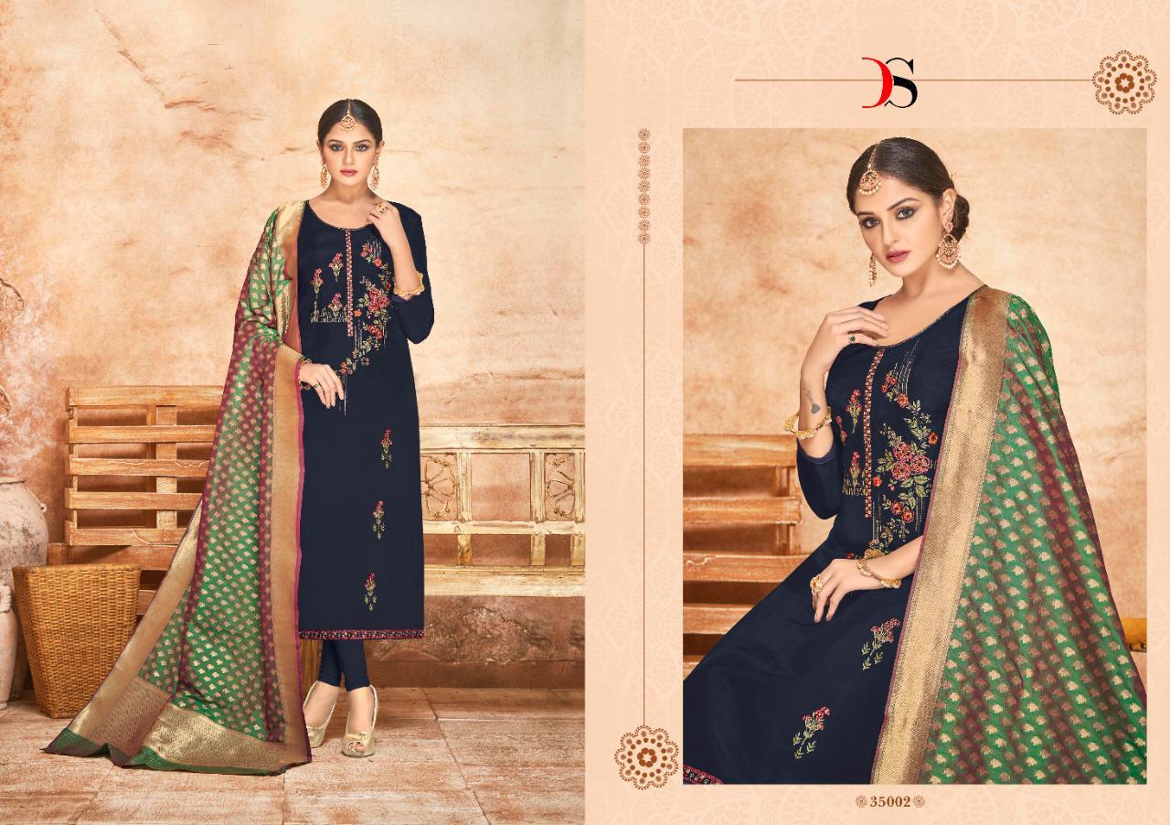 Deepsy Suits Sabiha Banaras Self Embroidery Designer Heavy Suits Wholesale