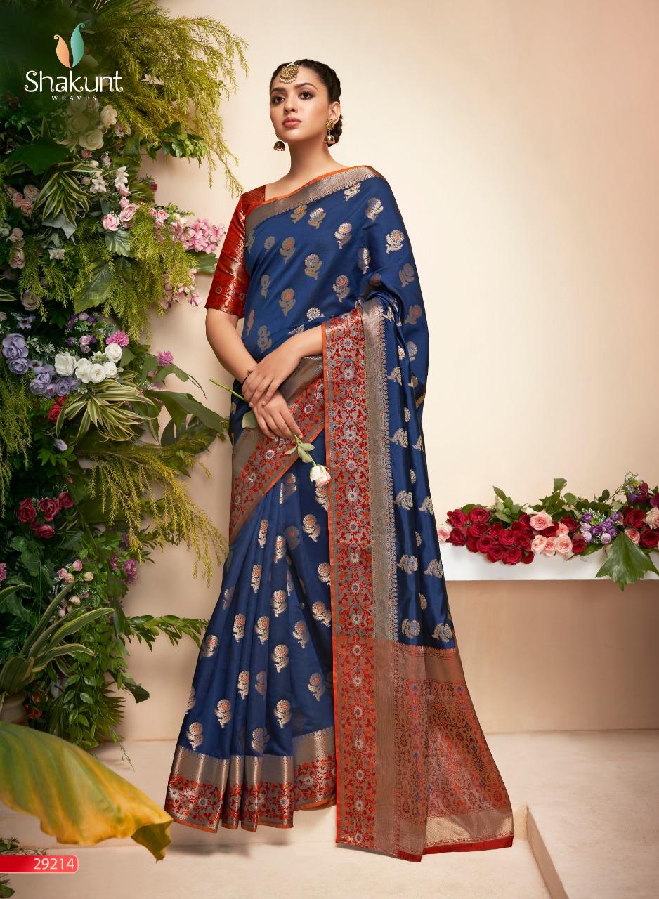 Shakunt Ghruhlaxmi Designer Party Wear Silk Sarees Wholesale