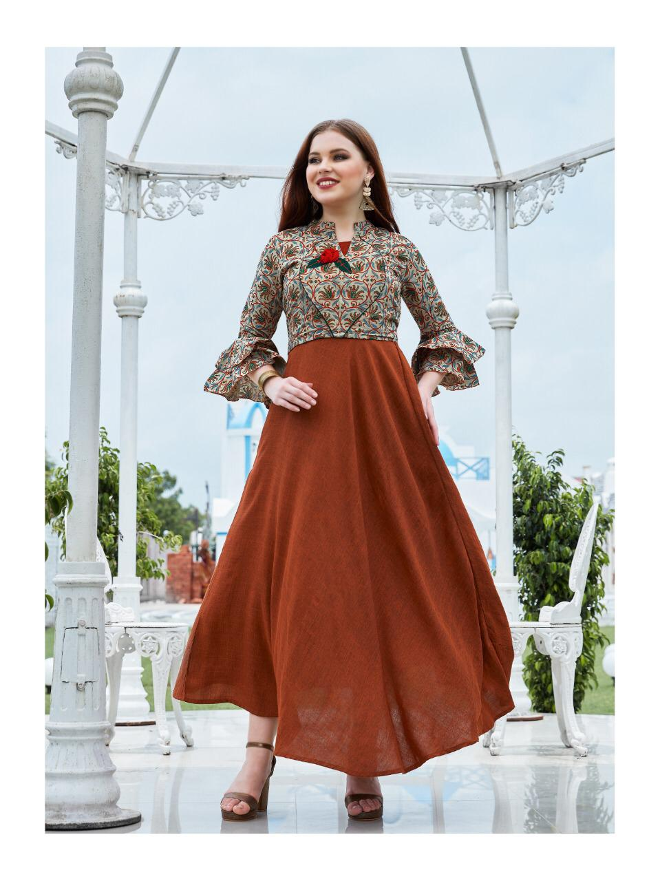Kiana House Of Fashion Crown Vol 2 Designer Party Wear Heavy Embroidery Kurti In Best Wholesale