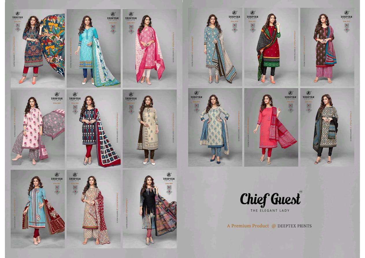 Deeptex Chief Guest Vol 18 Soft Cotton Printed Suits Wholesale