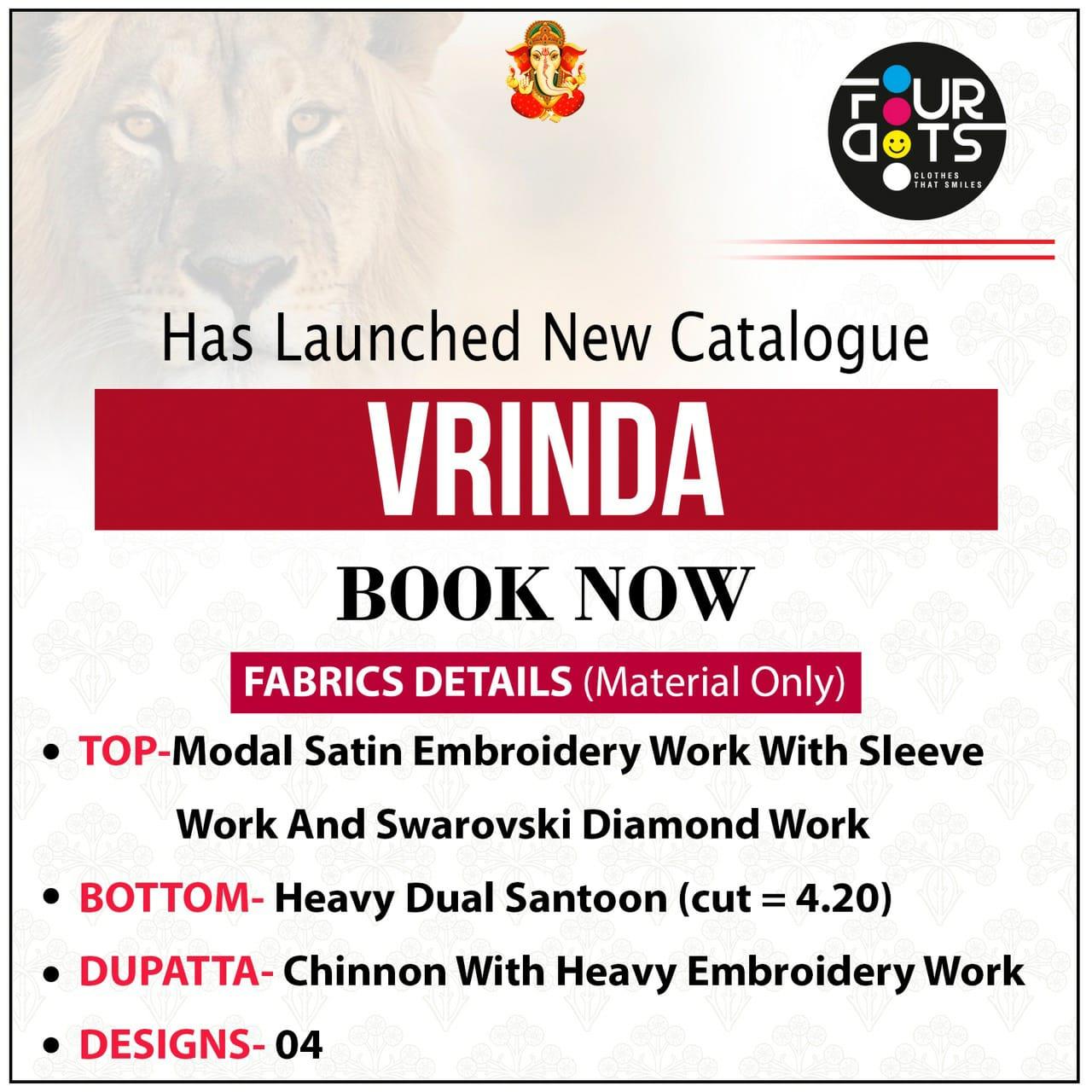 Fourdots Vrinda Designer Modal Satin Party Wear Suits Wholesale