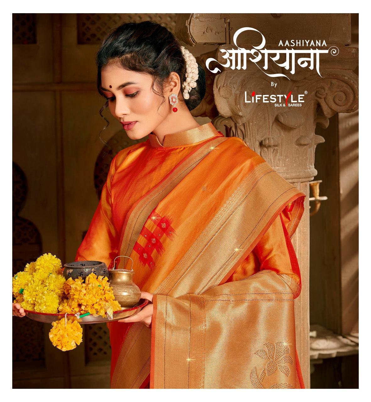 Lifestye Aashiyana Designer Silk Pallu Heavy Saree Wholesale