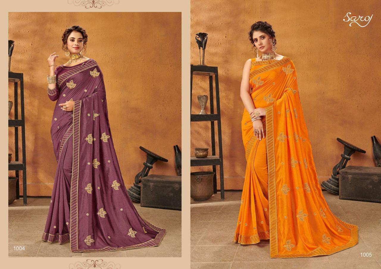 Saroj Saree Sanam Jari Work Butta Designer Silk Sarees Wholesale