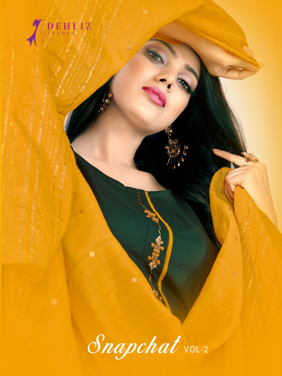 Dehliz Trends Snapchat Vol 2 Desgner Khatli Hand Work Suits Wholesale