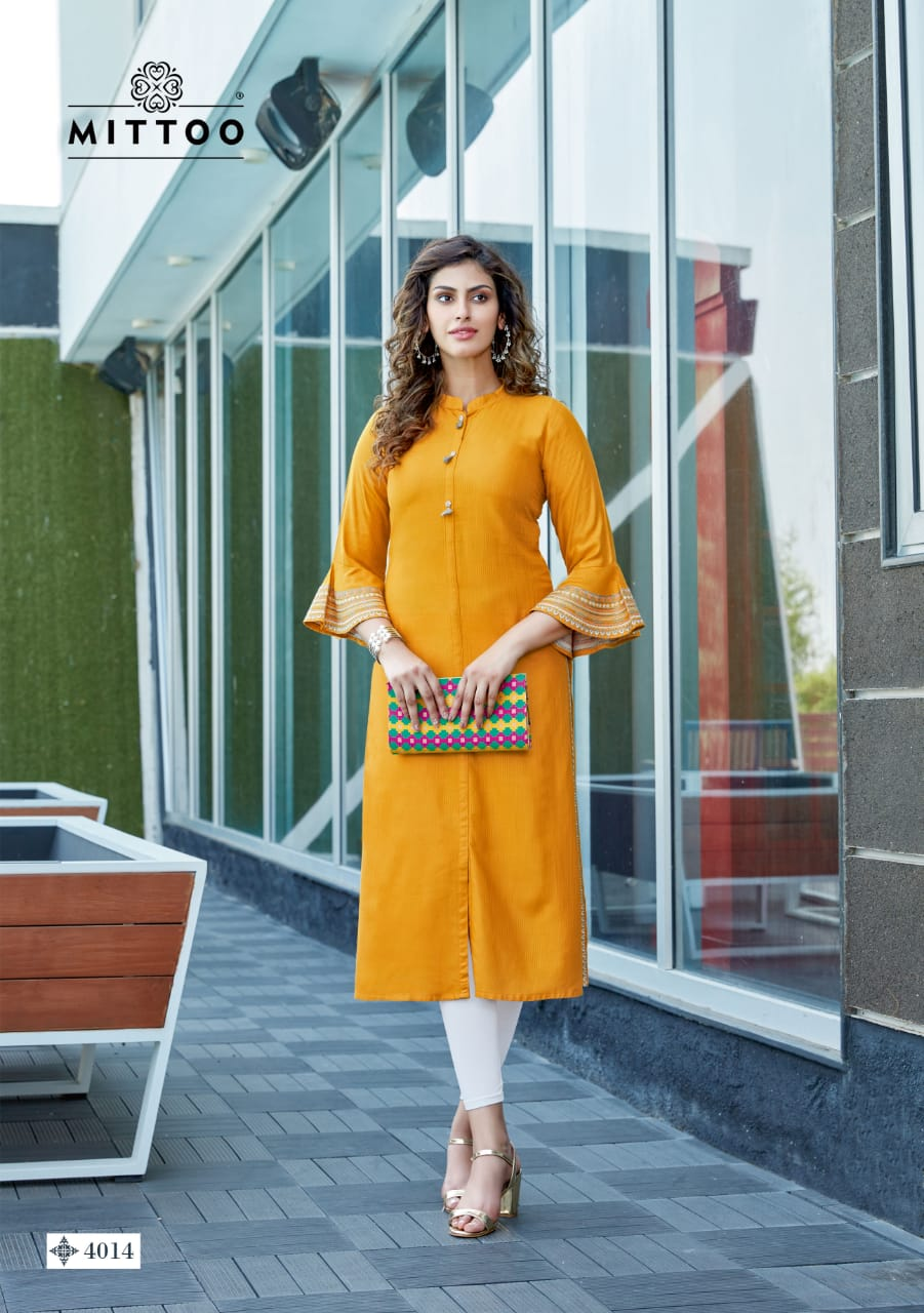 Mittoo Mayurika Vol 2 Designer Rayon Viscose Daily Wear Kurties Wholesale