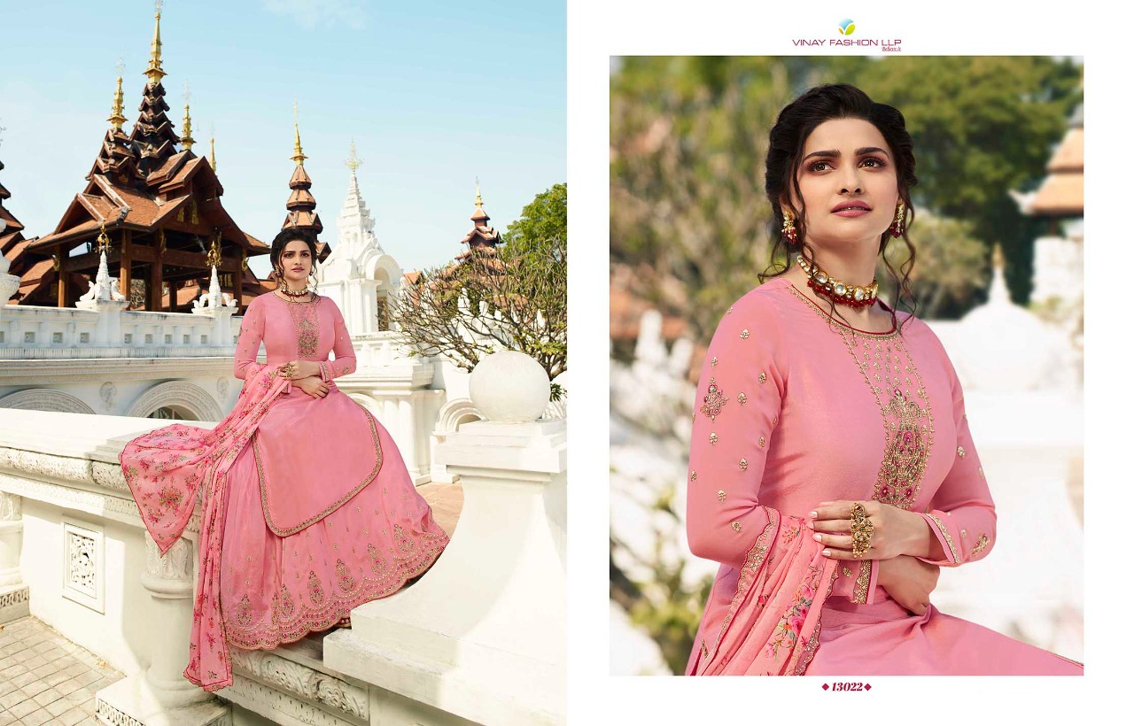 Vinay Fashion Kaseesh Lifestyle-3 Embroidered Muslin Satin Designer Suits Wholesale Available At Best Rates