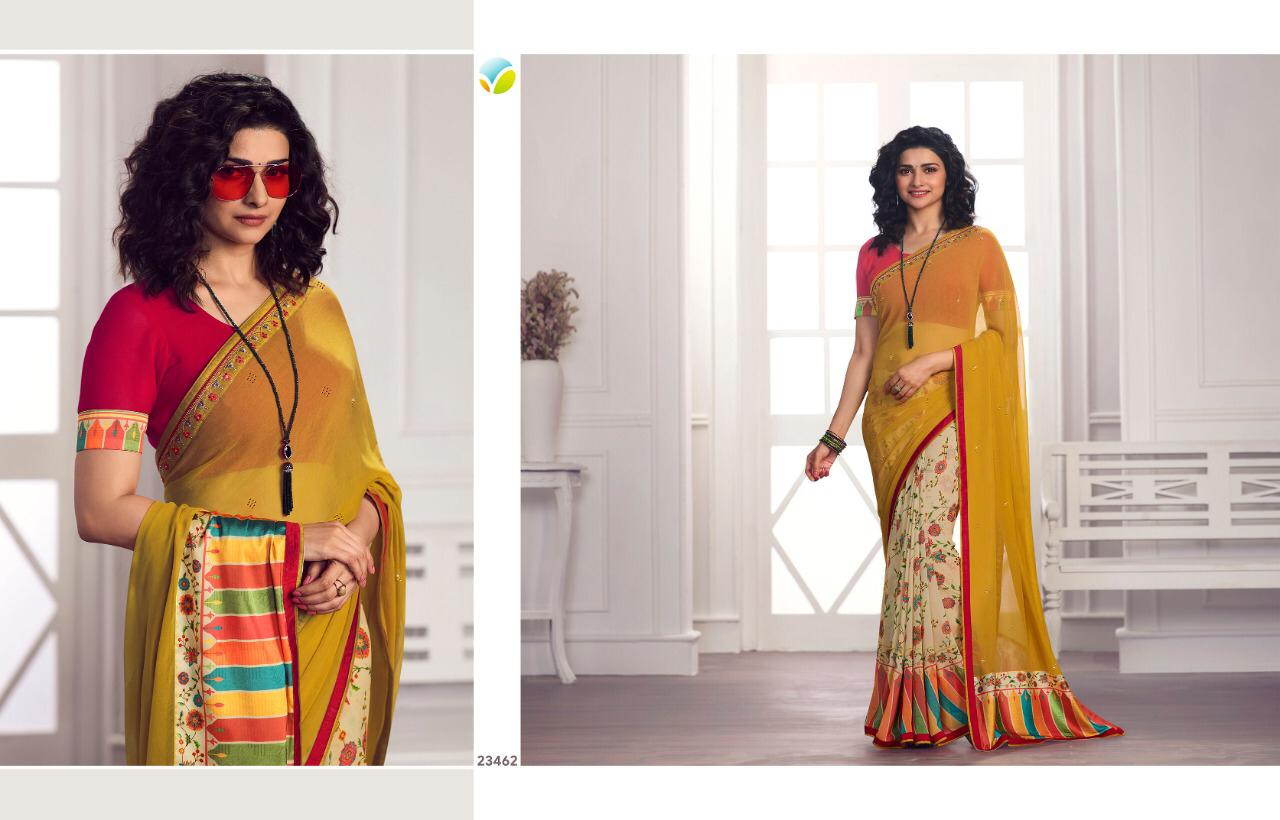 Vinay Starwalk Vol 62 Georgette With Diamond Work Party Wear Saree Wholesale Available At Best Rates