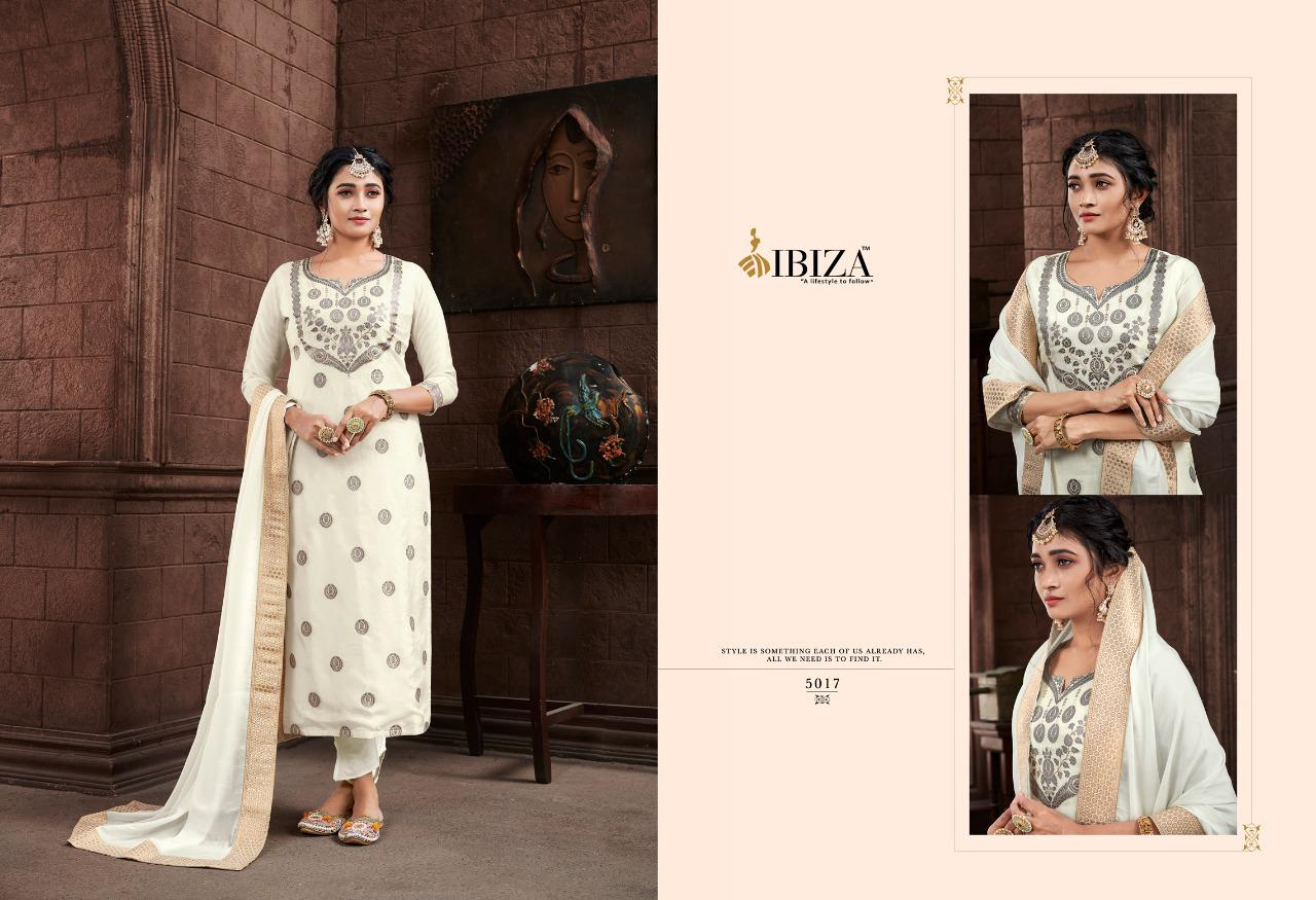 Ibiza Najakat Pure Russian Jacquard Designer Partywear Suits Wholesale Available At Best Rates