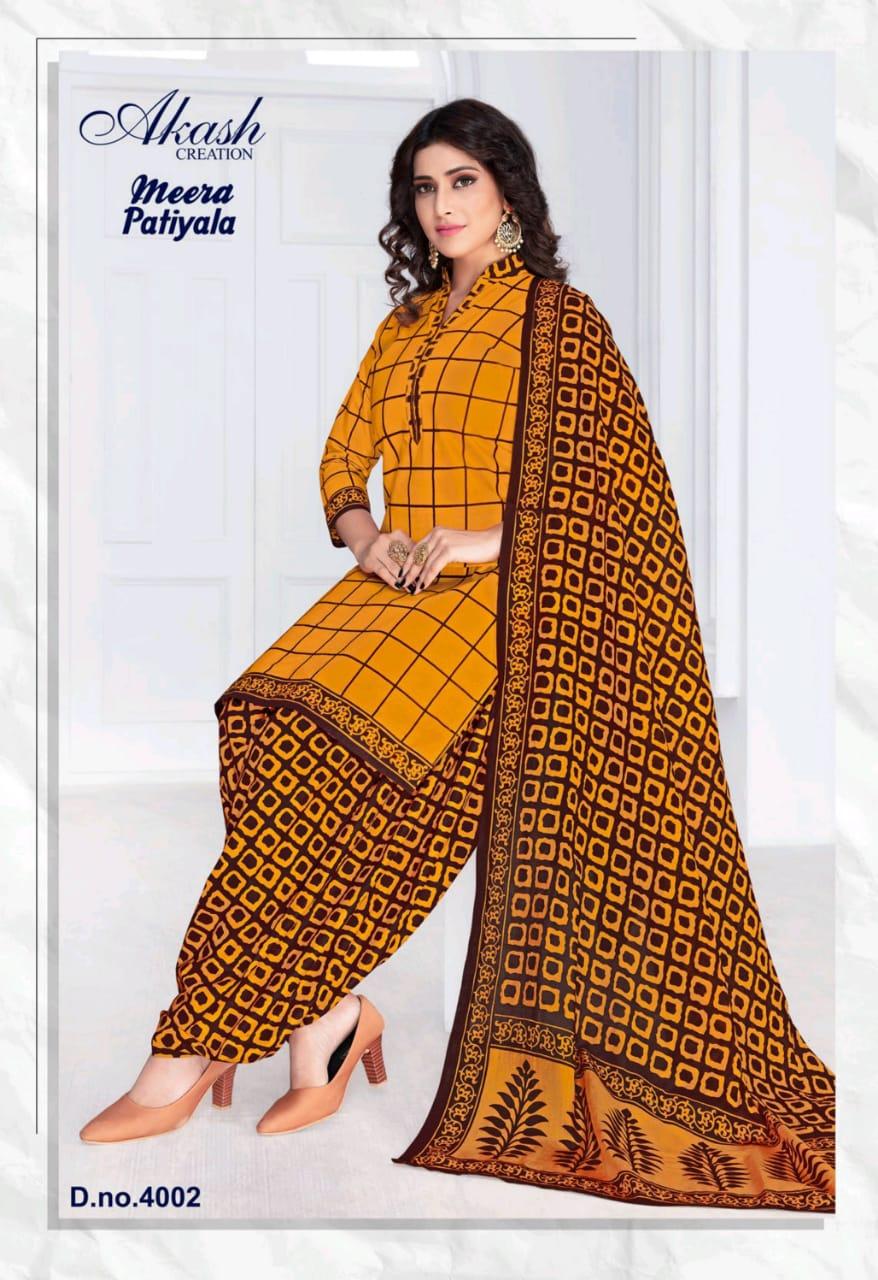 Akash Creation Mayur Creation Meera Patiyala Vol 4 Designer Suits Wholesale Available At Best Rates
