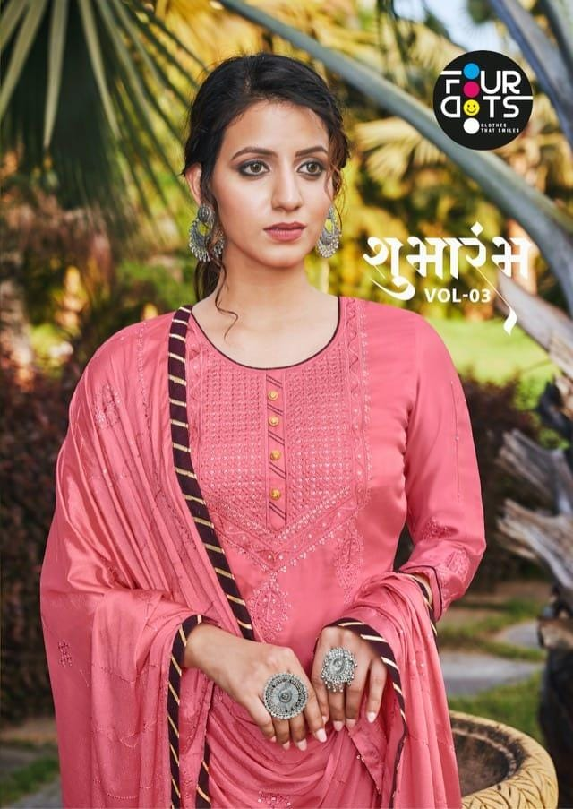 Fourdots Shubharambh Vol-3 Sequence Work Designer Party Wear Suits Wholesale Available At Best Rates