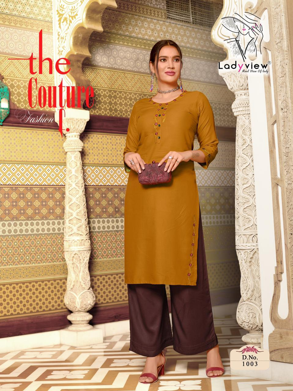 Ladyview Menka Vol.2 Rayon Embroided Daily Wear Designer Kurti Wholesale Available At Best Rates