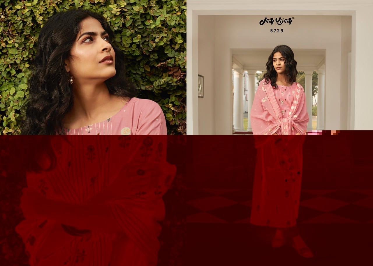 Jay Vijay Nazaara Cotton Khadi Gold Print Handwork Designer Party Wear Suits Wholesale Available At Best Rates