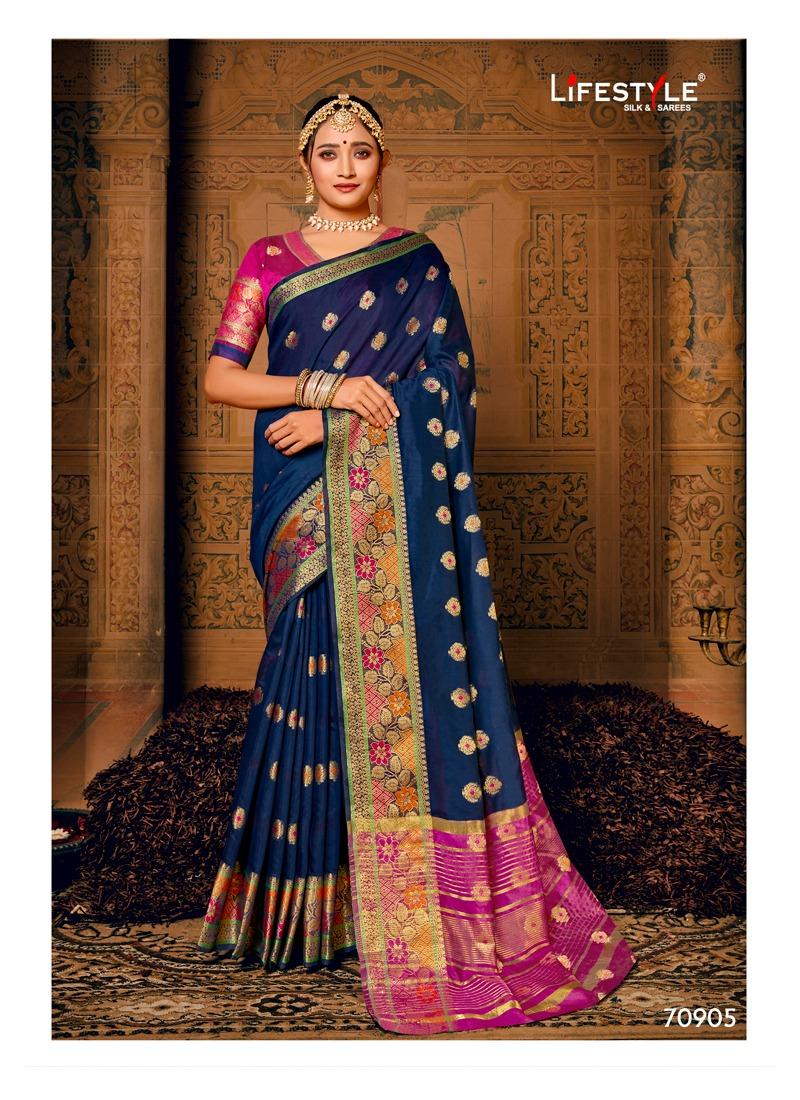 Lifestyle Riwayat Designer Silk Rich Pallu Sarees Wholesale