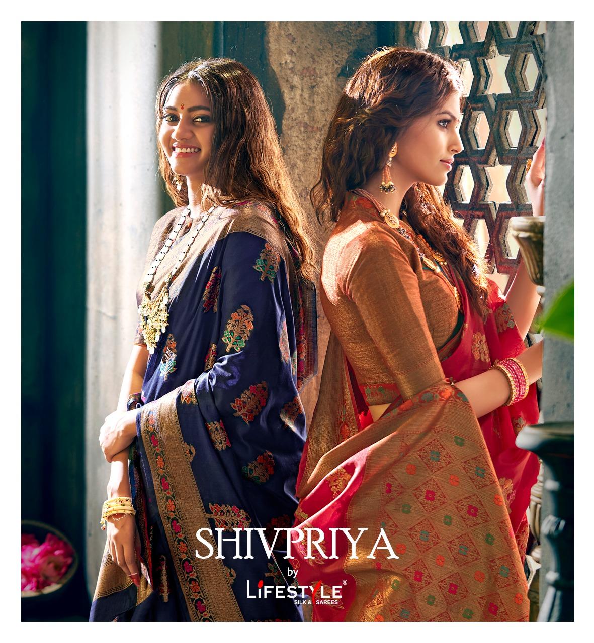 Lifestyle Shivpriya Designer Chanderi Silk Partywear Sarees Wholesale