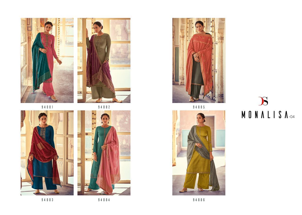 Deepsy Suit Monalisa Designer Nahaya Silk Self Embroidery Work Suits Wholesale