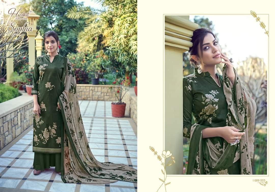Harshit Fashion Hub Alok Suits Sophia Designer Cambric Cotton Digital Print With Swarovski Work Suits Wholesale