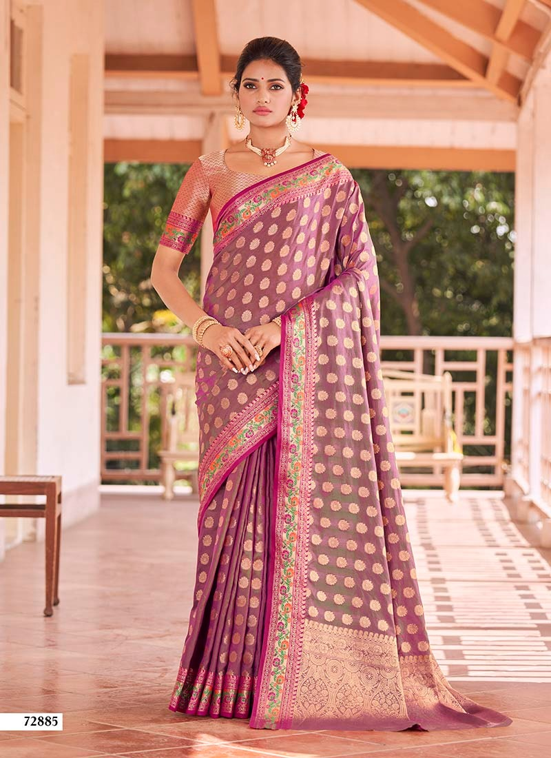 Lifestyle Rangoli Silk Fancy Nylone Sana Silk Rich Pallu Sarees Wholesale