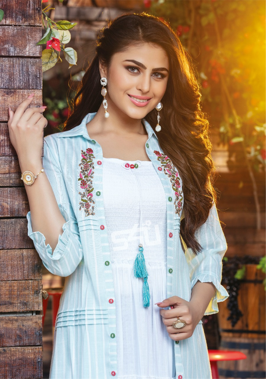 S4u Hello Jackets Vol 5 Designer  Elegant And Long Rayon Mini Gowns With Jackets Wholesale