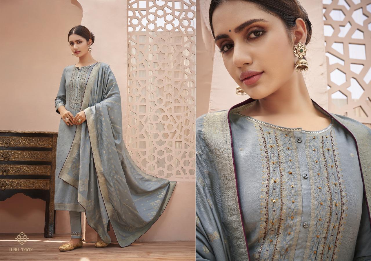 Kalaroop Kajree Tani Designer Pure Jacquard With Khatli Work Readymade Suits Wholesale