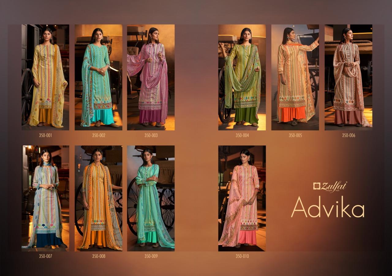 Zulfat Designer Advika Designer Cotton Digital Printed Suits Wholesale