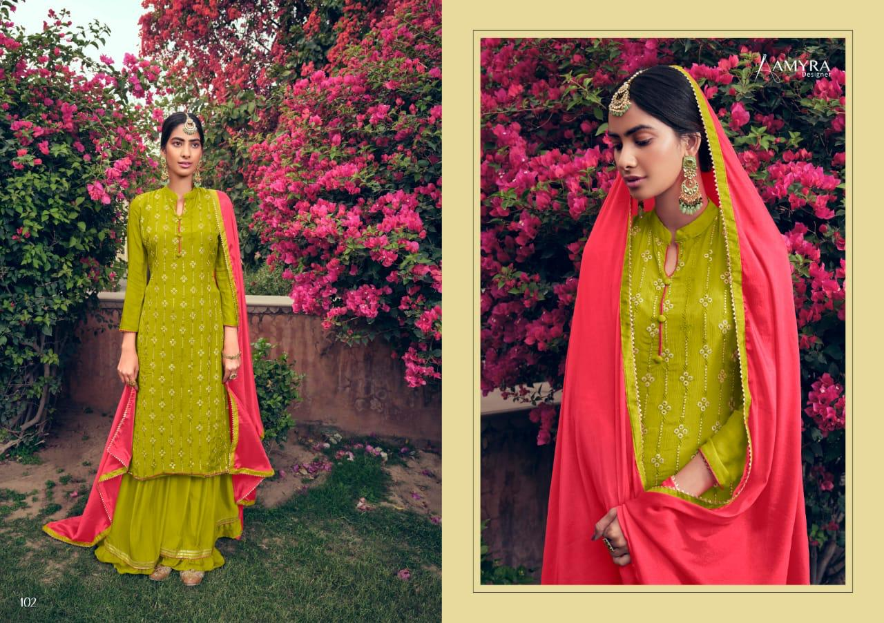 Amyra Designer Naaz Heavy Viscose Chinon With Heavy Embroidery Work Suits Wholesale