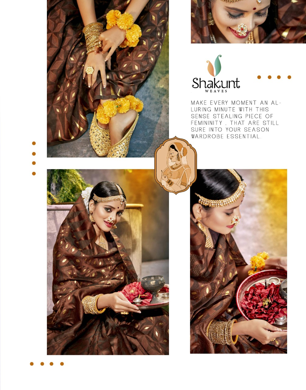 Shakunt Lokpriya Cotton Weaving Printed Sarees Wholesale