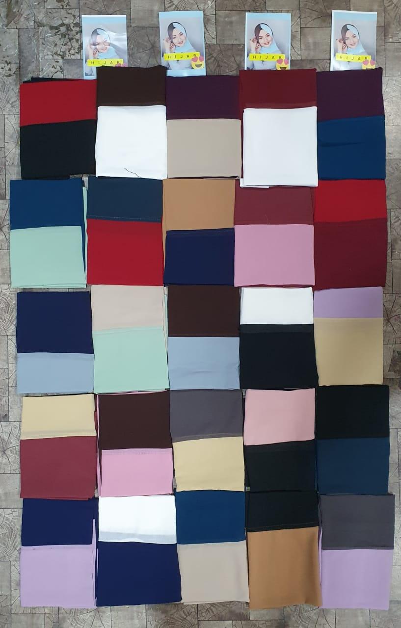 New Duel Color Dupatta Chiffon Georgette Dupatta With Double Color Dupatta In Singles