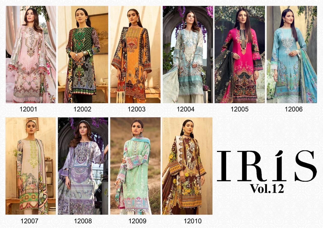 Iris Vol 12 Designer Cotton Digital Printed Low Range Suits Wholesale