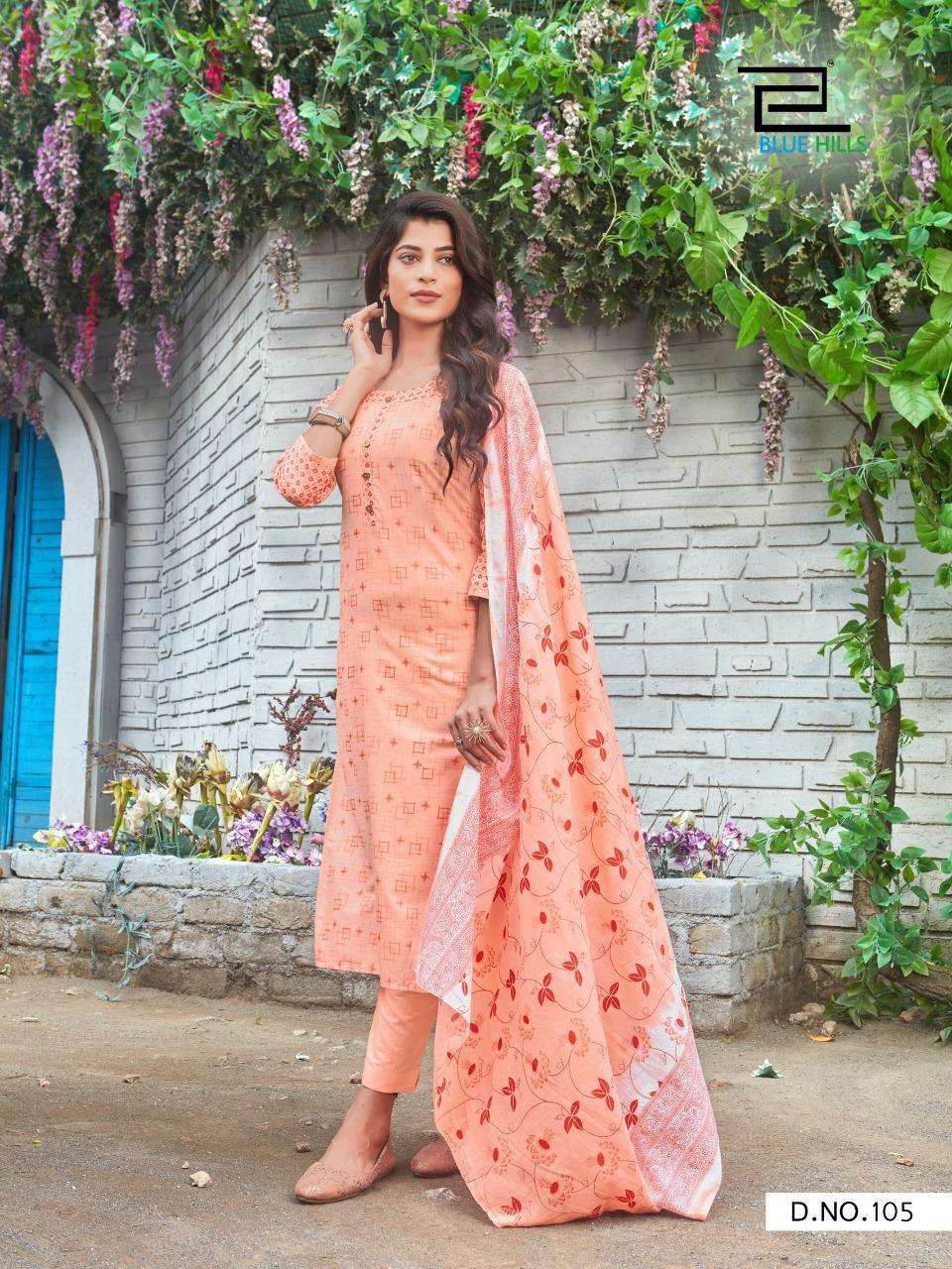 BLUE HILLS COTTON CANDY VOL 1 DESIGNER CAMBRIC COTTON PRINTED LOW RANGE READYMADE SUITS WHOLESALE