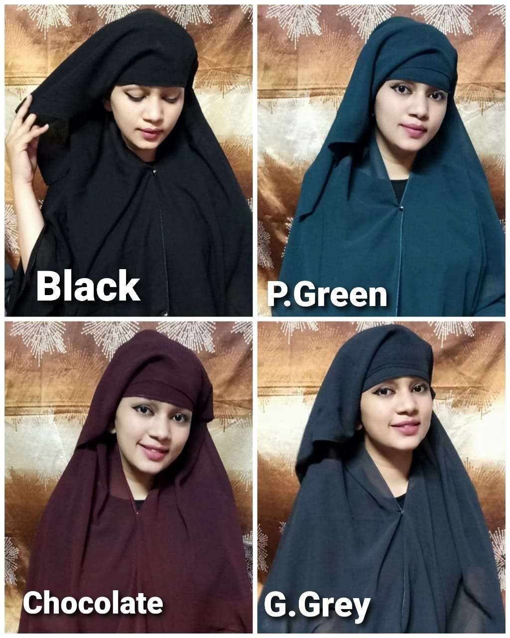 TEHRAN HIJAB INSTANT WEAR HIJAB WITH FRONT BUTTON SINGLES