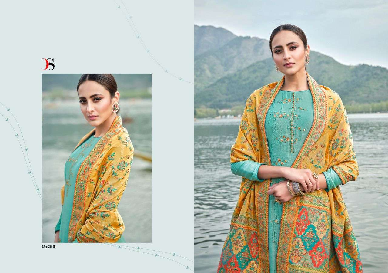 DEEPSY SUITS AAFREEN DESIGNER MULBERRY SILK WITH EMBROIDERY WORK SUITS WHOLESALE